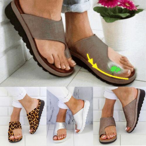 Lady Comfy Platform Sandal Shoes Ankle Strap Peep Toe Correction Arch Support