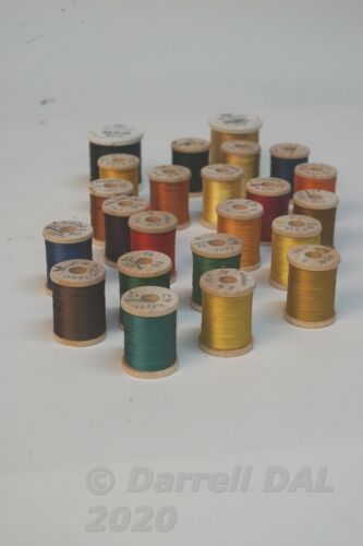 Vintage Dark Brown #10242 Silk Thread for Bamboo Fly Rods 50 Yds Size 00