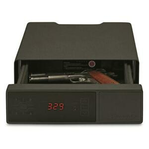 Hornady RAPiD Safe, Night Guard RFID Pistol Safe, Steel, Black, Clock - 98125