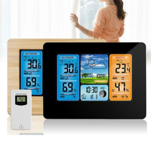 Weather Station Wireless Color Digital LCD Outdoor Indoor Thermometer Clock Lc