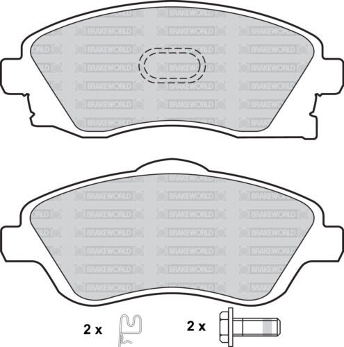 OEM SPEC FRONT AND REAR DISCS PADS FOR OPEL TIGRA 1.4 2004-09