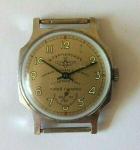 Vintage-UdSSR-Armbanduhr-SHTURMANSKIE-Juri-Gagarin-Soviet-Military-Watch-Zim