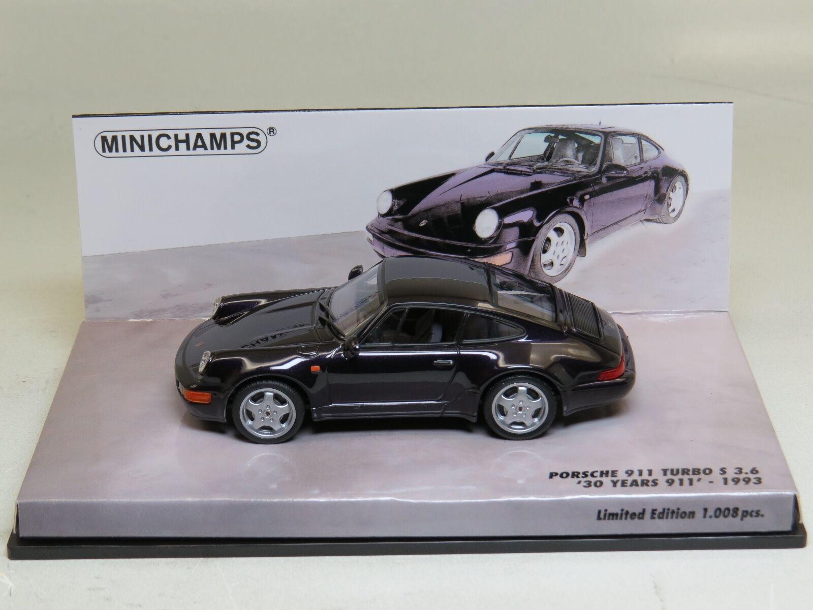 Porsche 911 Turbo S 3.6 Minichamps 1 43 Very rare    (30 years 911)