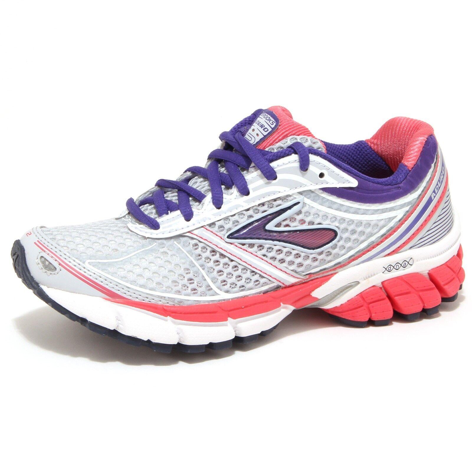 Zapatos promocionales para hombres y mujeres 8973O sneaker BROOKS ADURO 2 grigio chiaro scarpa donna shoe woman