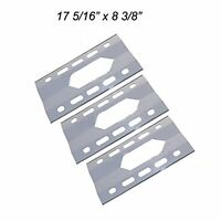 Stainless Steel Heat Plates 3pk Bbq Gas Grill Parts Shield For Costco Kirkland