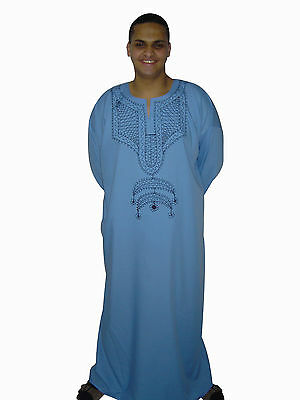 Clothing, Shoes & Accessories Other Men's Clothing Rapture Beautiful Elegant Modern Men's Caftan Aus1001 Night Light Blue Kam00544 In Pain