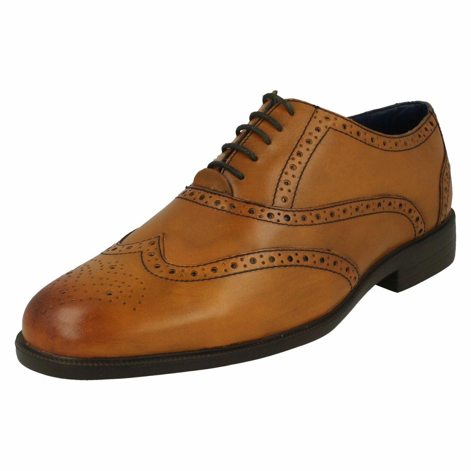 Mens Padders Lace Up Leather Lighweight Smart Formal Brogue shoes Oxford