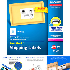 Avery Shipping Address Labels Laser Printers 600 Labels 3 13x4 Labels Pe
