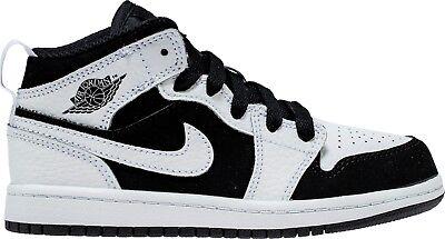 PS AIR JORDAN 1 MID Preschool 640734-090 Black//Black-Black Sneaker Shoes