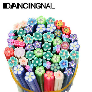 50 nail art 3d flower fruit fimo canes rod polymer clay for 3d nail art fimo canes rods decoration