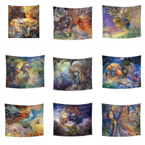 Angel Psychedelic Tapestry Wall Hanging Couverture Tapis Fond Tissu Décoration