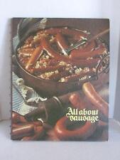 Oscar Mayer All About Sausage Cookbook Recipe Book Vintage Spiral Bound 1973