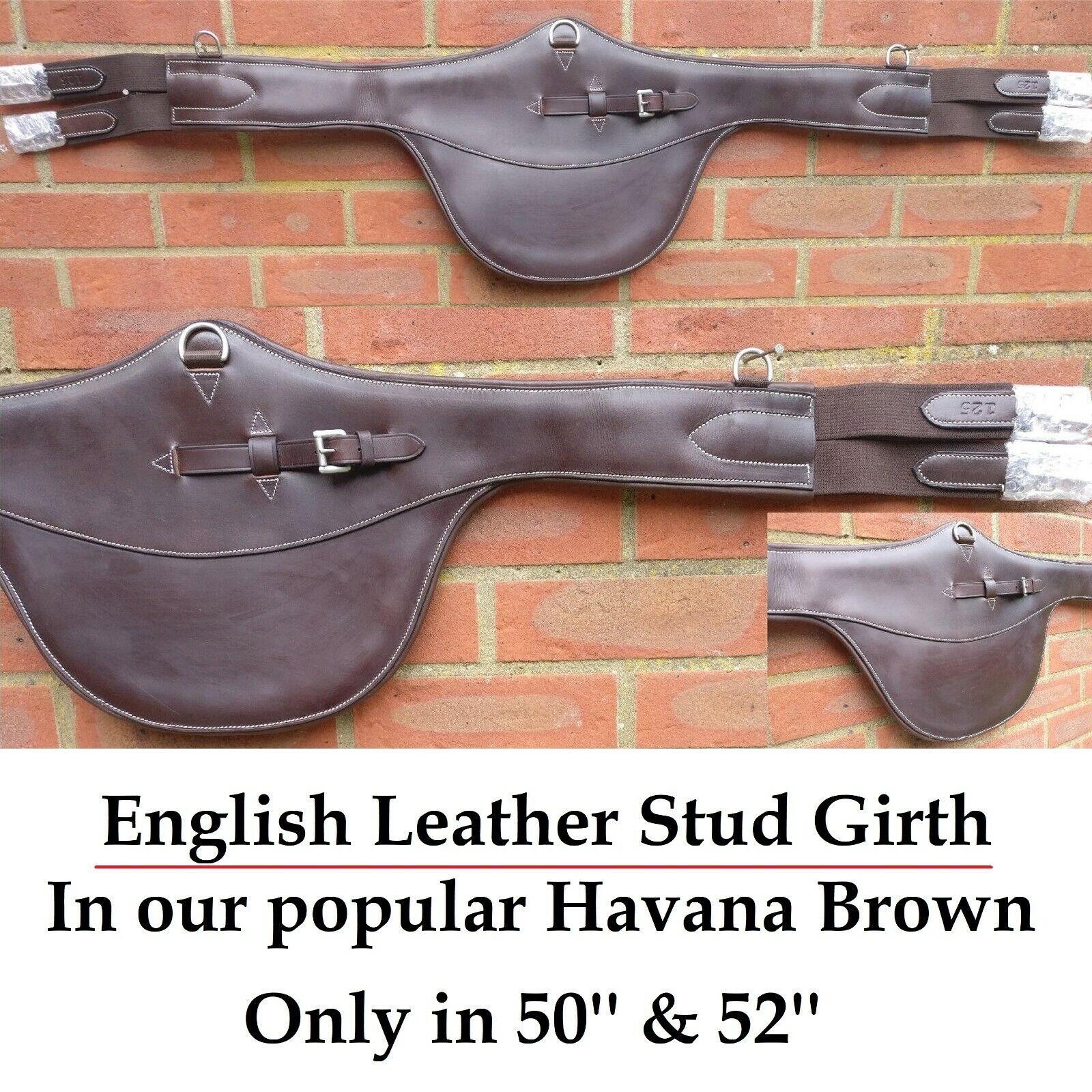 ENGLISH Leather mostra elasticizzata Stud sottopancia 50 & 52 OAK Marronee  vendita  SUPER