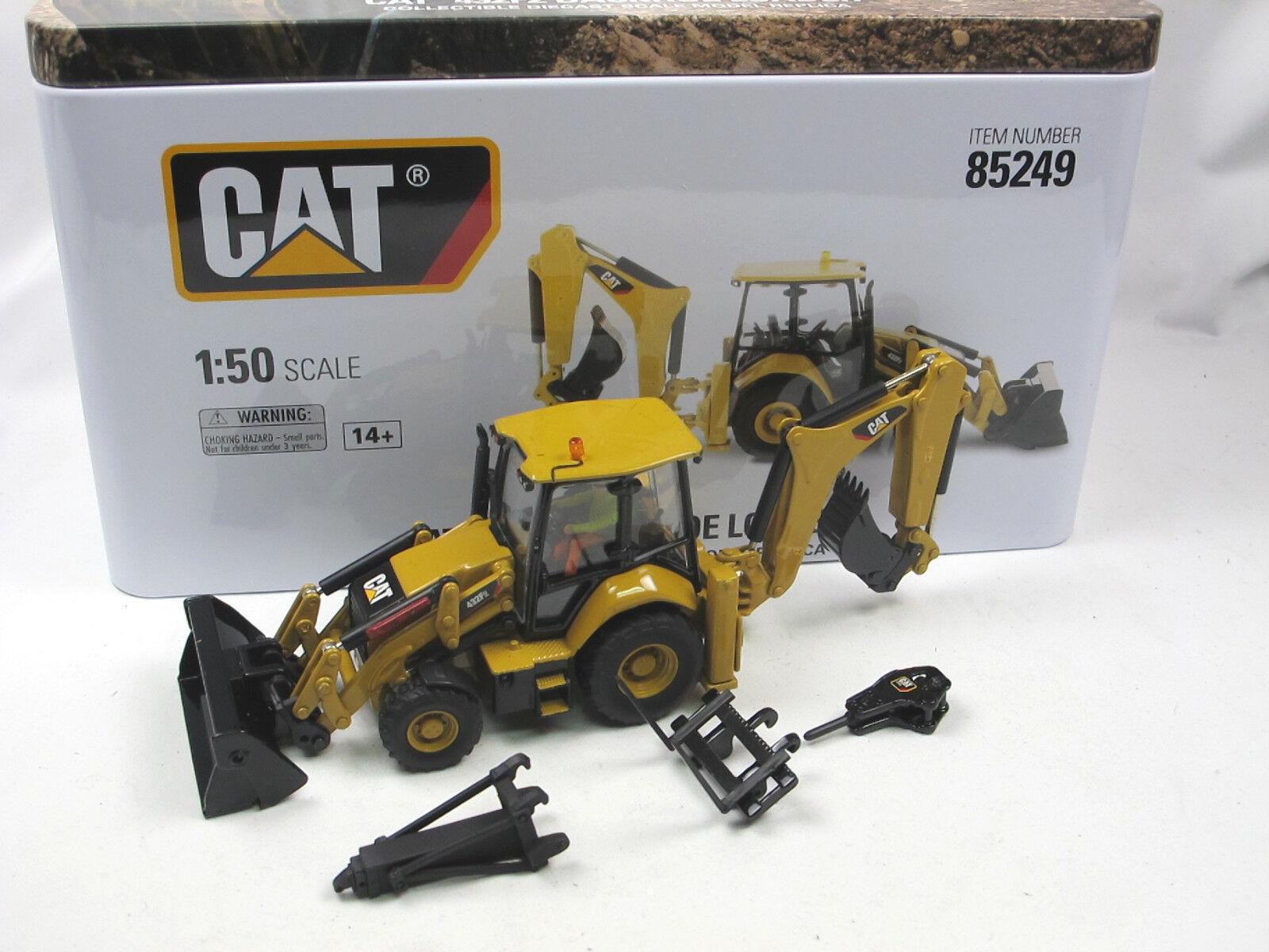 autentico en linea DIECAST masters 85249 Cat 432f2 side Shift backhoe Loader Loader Loader retroexcavadoras 1 50 nuevo  más orden