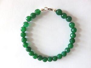 Gruenachat-facett-Armband-17-cm-925-Silber-Green-Onyx-Bracelet-Nr-5129