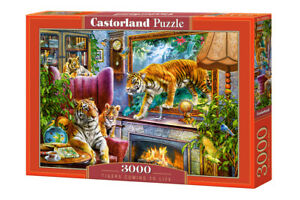 "Brand New Castorland Puzzle 3000 TIGERS COMMING TO LIFE 36"" x 27"" C-300556"
