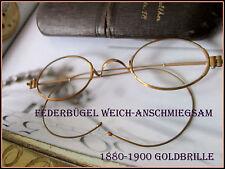 Historische Gold Brille Optiker Sammlung 1880-1900 Luxus vintage weiche Bügel