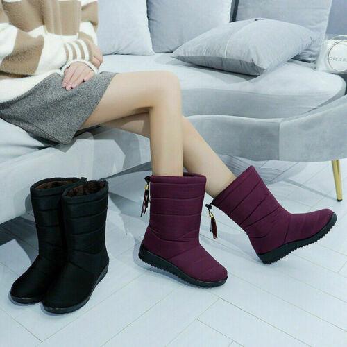 Women/'s Snow Queen Waterproof Boots Velvet Snow Boots G4N8 Waterproof and N K9E3