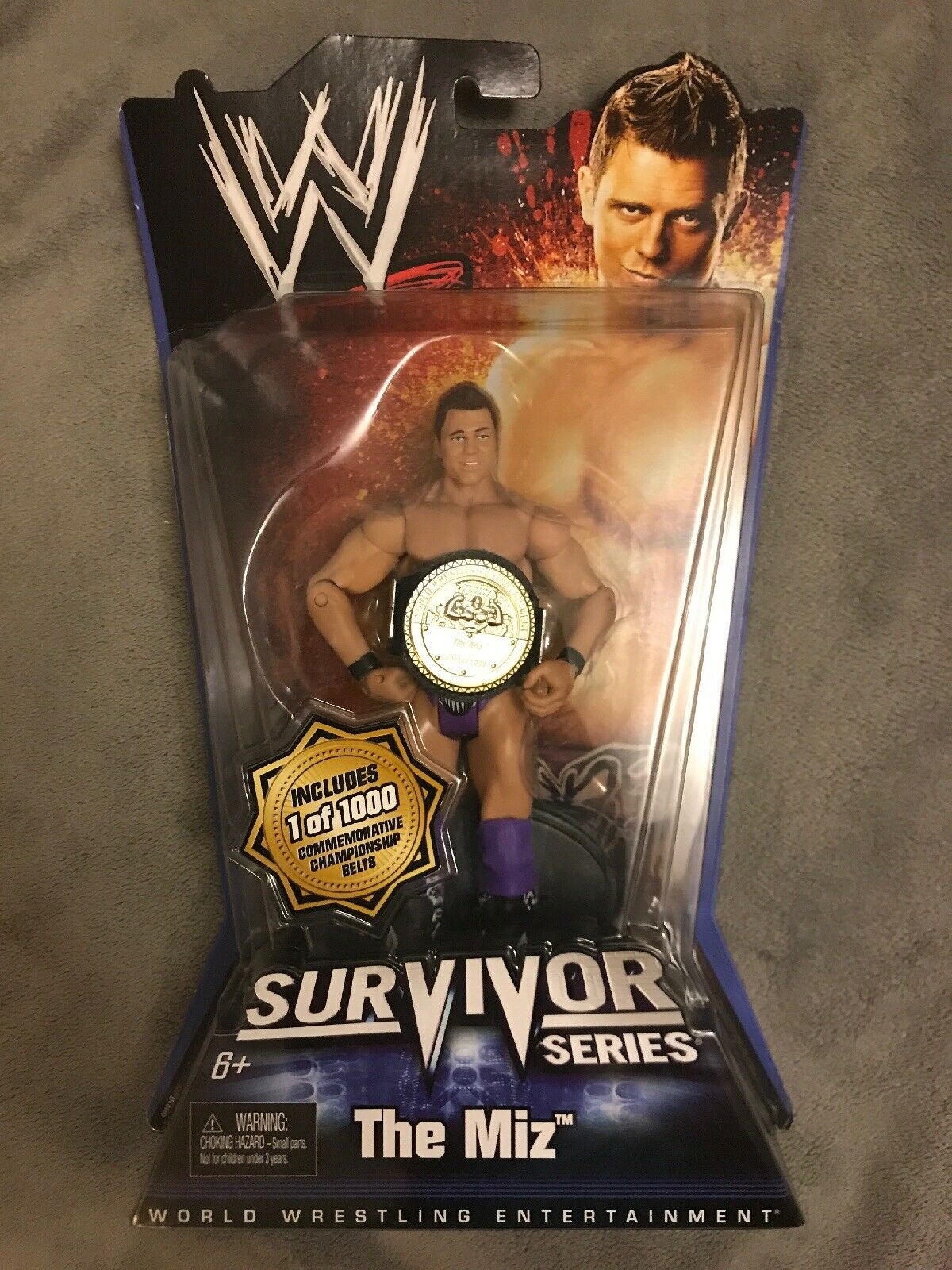 WWE Mattel  Survivor Series MIZ Action Figure w w w Commemorative Championship Belt 916