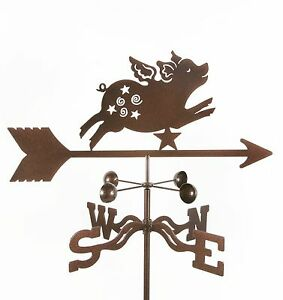 When-Pigs-Fly-Flying-Pig-Weathervane-Whimsical-Vane-w-Choice-of-Mount