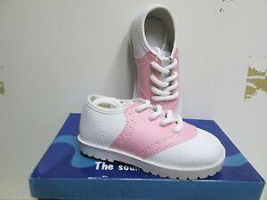 NIB SADDLE SHOES Girls Infant/Toddler White/Pink Size 1,2,4,5,6,9,10