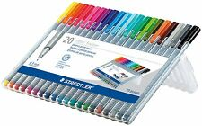 20 - STAEDTLER Triplus Fineliner Pourous Point Pens - 0.3mm - Assorted Ink - New