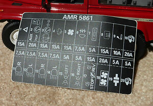 land rover defender 90 110 decal label badge amr5861 fuse ... where is land rover defender fuse box land rover defender fuse box diagram