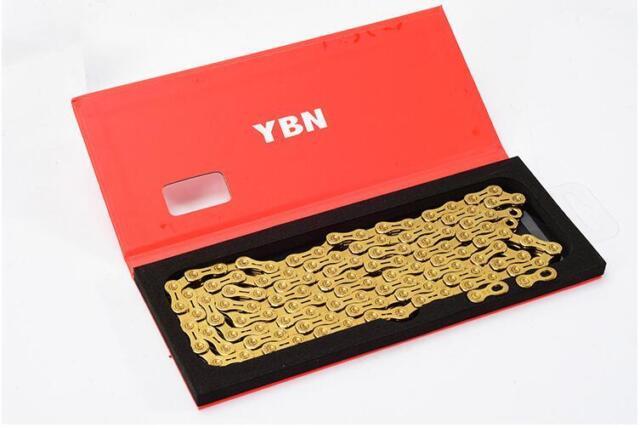 YBN SLA110-TIB-Black 11 Speed Chain 116 Link SLA-11 Campagnolo Shimano Black