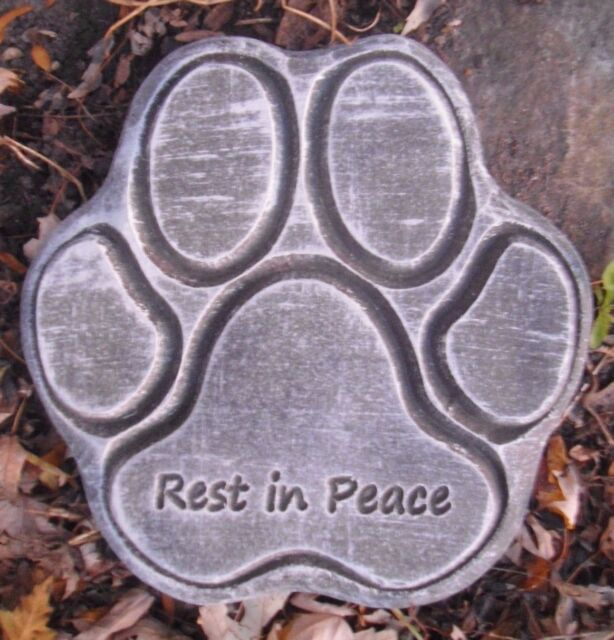 Dog paw memorial  plastic mold concrete plaster garden mould  9.5