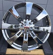 "24"" GMC Denali Wheels Tires (4) Chrome Yukon 1500 Sierra Silverado Rims LTZ"