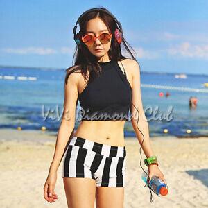 Korean Style Women Sexy Padded Top Shorts Beach Bikini Set