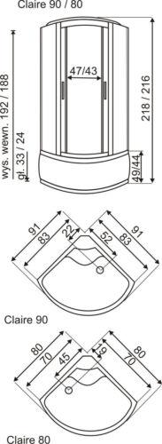 DUSCHTEMPEL FERTIGDUSCHE DUSCHKABINE ECHT GLAS KOMPLETT DUSCHE Wanne 80 X 80 C80