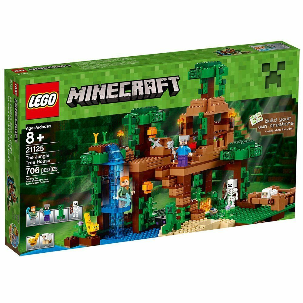 Lego 21125-Minecraft-Jungle Tree House-New & Sealed
