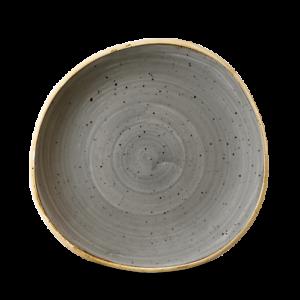 Churchill STONECAST Organic Round Plate Peppercorn Grey Teller Porzellan 21 cm