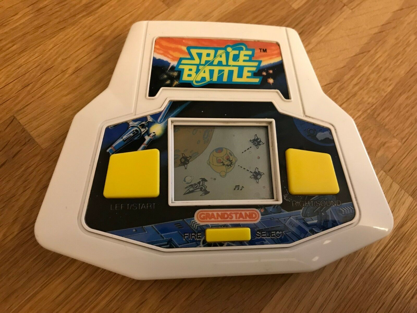 Ultra Rare 1st Gen Grandstand Space Battle 1989 LCD Electronic Game-Early Serial
