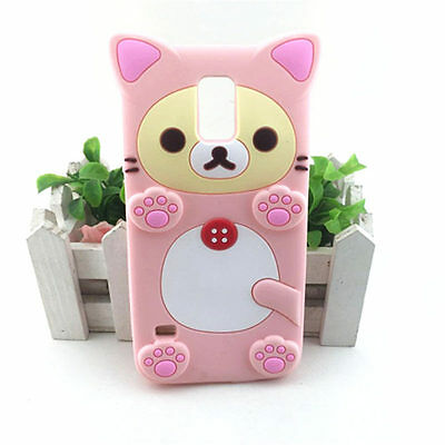 NEW 3D Rilakkuma Bear Soft Silicone Back Cover Phone Cases for iPhone Samsung LG