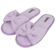 Women Soft Spa Slippers Bowknot Fleece  Bedroom Indoor House Shoes Aerusi 5.5-9