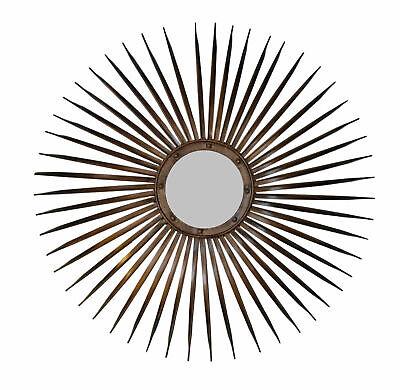 Willensstark Xl Sonnenspiegel Wandspiegel Rundspiegel Spiegel Metall Sonne Vintage Retro Neu Reinweiß Und LichtdurchläSsig