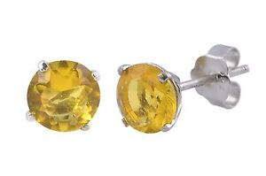 Citrine-Stud-Earrings-November-Birthstone-CZ-BASKET-Set-Zirconia-Sterling-Silver