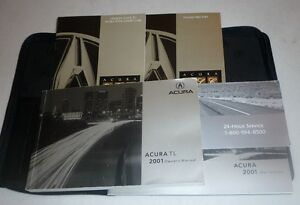 2001 acura tl owners manual set 01 guide w case ebay rh ebay com 2001 acura 1.7 el owner's manual 2003 Acura El Parts
