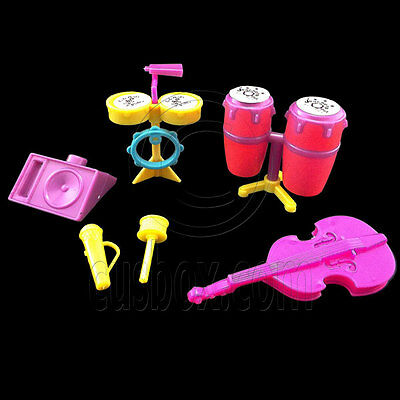 Music Band Instruments Drum Cello Combo Set 1:6 for Barbie Monster High Dolls
