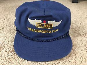 1a4841f96 Vintage Wal-Mart Hat Cap Snapback WALMART Transportation Trucker | eBay