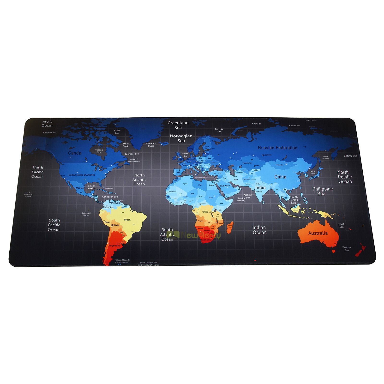 Gran tamao xl velocidad antideslizante mapa del mundo juego mouse extended gaming mouse pad large size desk mat 35 x 157 inches world map edge gumiabroncs Image collections