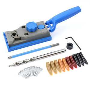 Details About 25pcs Pocket Hole Jig Kit Drill Guide Set For Hole Puncher Woodworking Tools