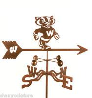 University Of Wisconsin Weathervane - Badgers Bucky Vane W/ Mount Choice