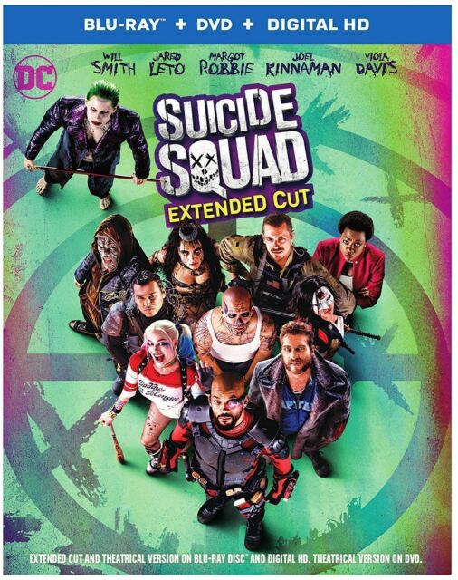 Suicide Squad (Blu-ray/DVD, 2016) NEW FREE USA SHIPPING