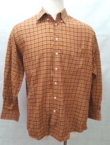Orvis-Signature-Collection-Orange-Long-Sleeve-Button-Shirt-Mens-Size-M-E2