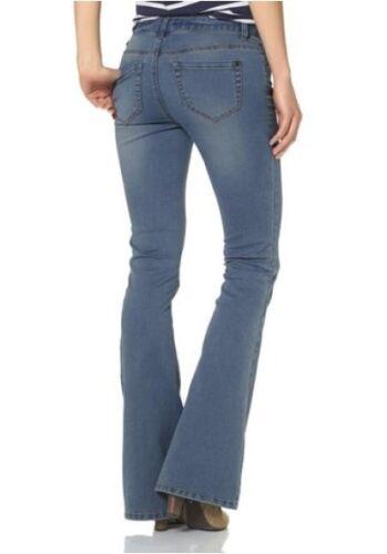 AJC Girls Jeans Kurz-Gr.18,19,21 NEU Schlaghose Stretch Denim Light Blue L30