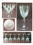 miniature 1 - VINTAGE Luminarc Wine Glasses 6 oz. Vertical Cuts Clear 6-Piece Set