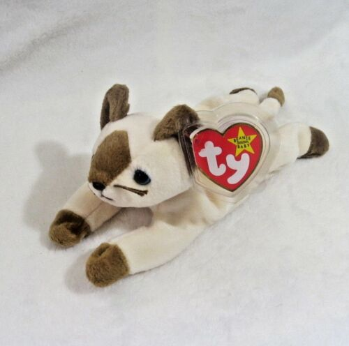 NEW WITH TAGS/>FREE SHIPPING 1996 Snip The Siamese Cat 7.5 in TY Beanie Baby